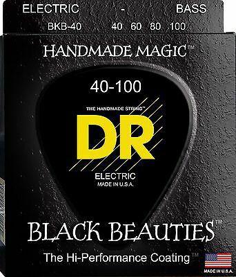 Encordoamento Black Beauties, Baixo 4 Cordas 40-100, Níquel, K3 Coated, Preta