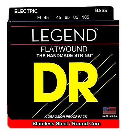 Encordoamento Legend Polished Flatwound Baixo 4 Cordas 45-105, Aço Inox, Núcleo Redondo