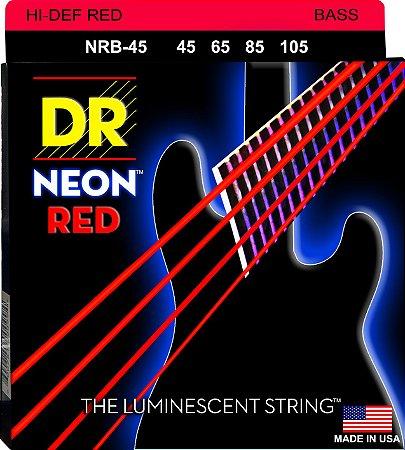 Encordoamento Hi-Definition NEON Red, Baixo 4 Cordas 45-105, Níquel, K3 Coated Vermelha