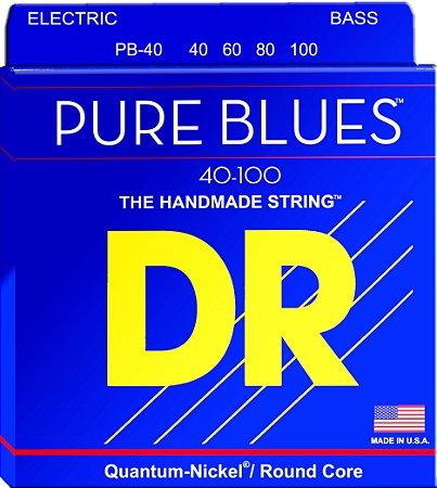 Encordoamento Pure Blues Baixo 4 Cordas, 40-100, Quantum-Níquel, Núcleo Redondo
