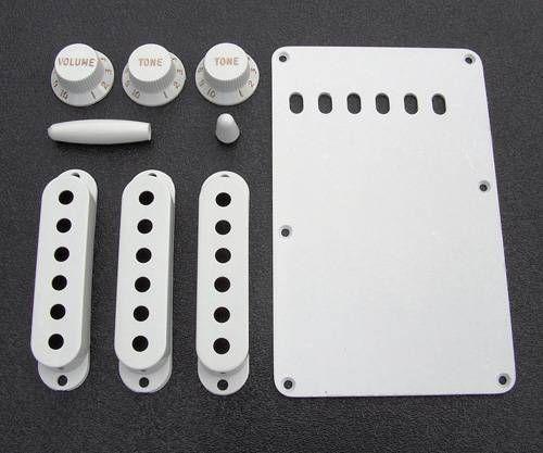 Kit de Acessórios Fender Originais Para Guitarra Stratocaster, Branco