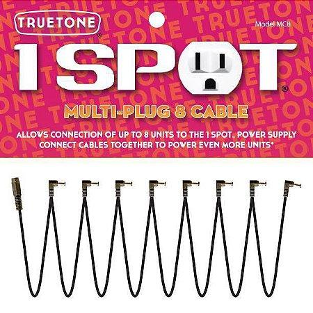 Cabo 1 Spot Extensor p/ Fonte Com 8 Plugs