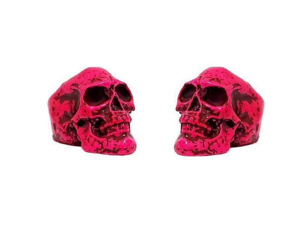 Borboleta Gorilla para Prato formato Caveira Neon Pink (2 Un)