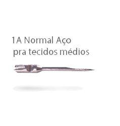 200 - 1A - KIT C/ 5 AGULHAS 100% AÇO - FAST LONGA - ETIQ PLAST