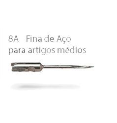 930 - 8A - KIT C/ 5 AGULHAS 100% AÇO - FINE LONGA - ETIQPLAST