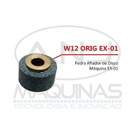 """W12 - PEDRA DE AFIAR DISCO DA MÁQUINA DE CORTE TIPO """"BANANINHA"""" EX-01 - EXATA"""