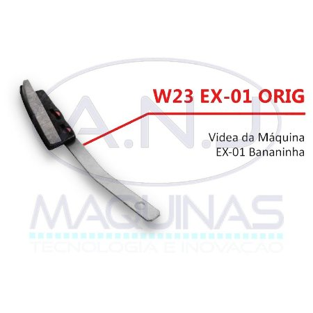 "W23 - SUPORTE E VIDEA P/ MÁQUINA DE CORTE TIPO ""BANANINHA"" EX-01 - EXATA"