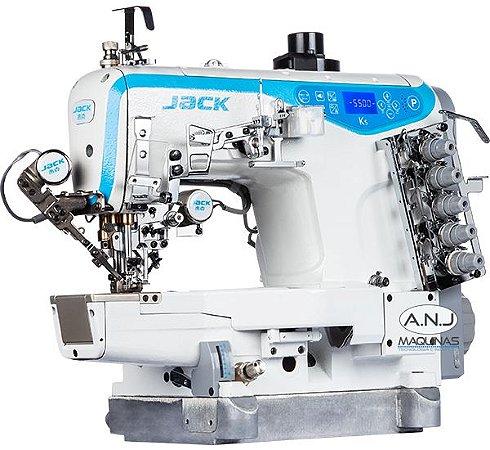 JK-K5D-01GBX364/PL - MÁQUINA GALONEIRA CILÍNDRICA DIRECT DRIVE 3 AGULHAS 5 FIOS C/ CATRACA - JACK