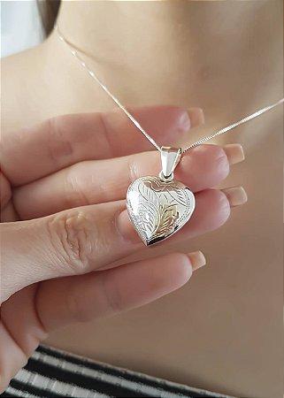 Colar Coração em Prata 925 Selecta Joias