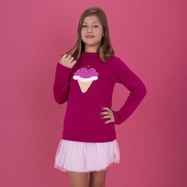 Blusa tricot cupcake