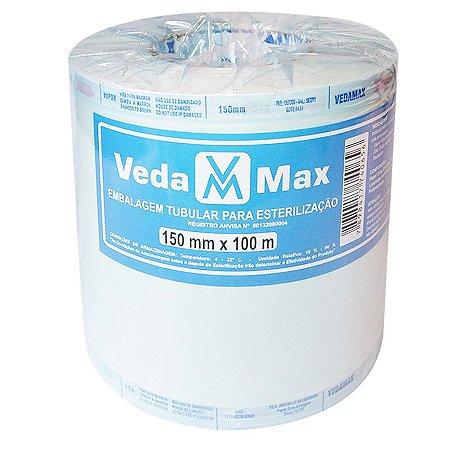 Rolo para Esterilização 15cm x 100m - Vedamax