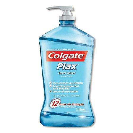 Enxaguante Bucal Plax Soft Mint sem Álcool 2L + Bico Dosador - Colgate