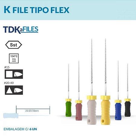 Lima K-File Tipo Flex 21 mm - TDK