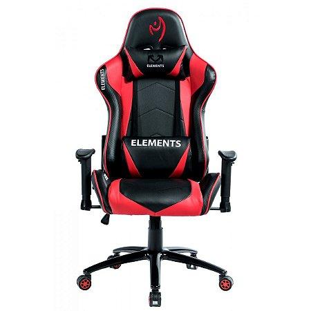 Cadeira Gamer alto padrão Elements Veda Ignis Vermelha