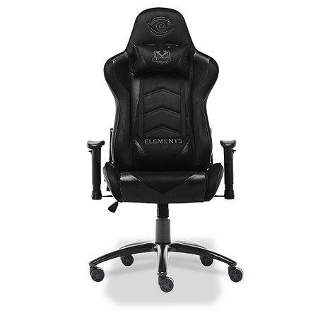 Cadeira Gamer Elements Veda Nemesis Suede Preta Kit