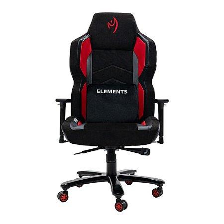 Cadeira Gamer Elements Magna Ignis Vermelha Kit