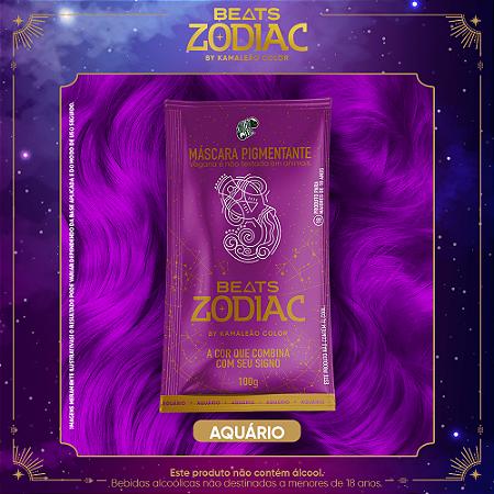 Máscara Pigmentante Beats Zodiac AR - Aquário (Violeta) 100g Kamaleão Color