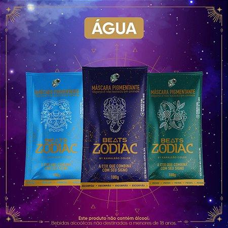 Kit Máscaras Pigmentantes Beats Zodiac by Kamaleão Color - Água (3 saches)