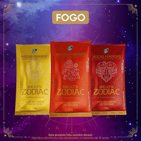 Kit Máscaras Pigmentantes Beats Zodiac by Kamaleão Color - FOGO (3 saches)