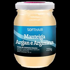 MANTEIGA ARGAN E ARGININA 220g SOFTHAIR