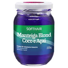 MANTEIGA COCO E AÇAÍ 220g SOFTHAIR