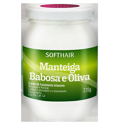 MANTEIGA BABOSA E OLIVA 220g SOFTHAIR
