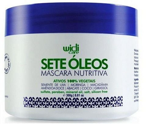 SETE ÓLEOS - MÁSCARA NUTRITIVA - WIDI CARE