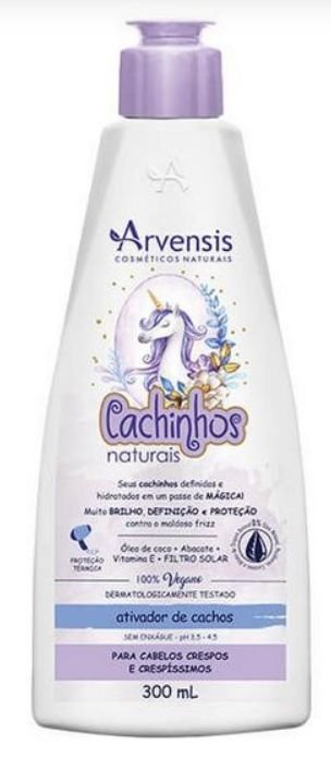 ATIVADOR CACHINHOS NATURAIS CRESPOS 300 ML ARVENSIS