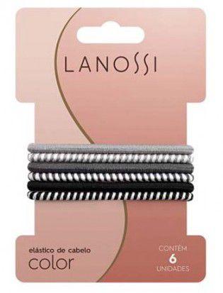 Conjunto De Elásticos Lanossi Color Silver C/ 6