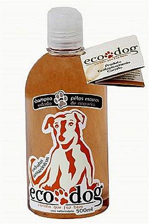 Shampoo Pelos Escuros ECO DOG 500ml com Óleo de Copaíba e Extrato de Nogueir