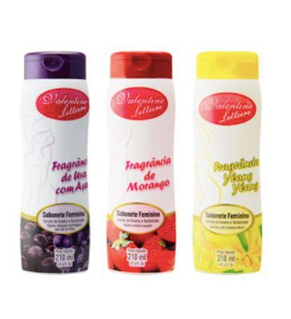 Sabonete Líquido Aromático 210 ml Valentine Lettire