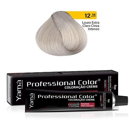 Coloração Yamá Creme Professional Color Nano Infusion 12.11 Louro Extra Claro Cinza Intenso 60g