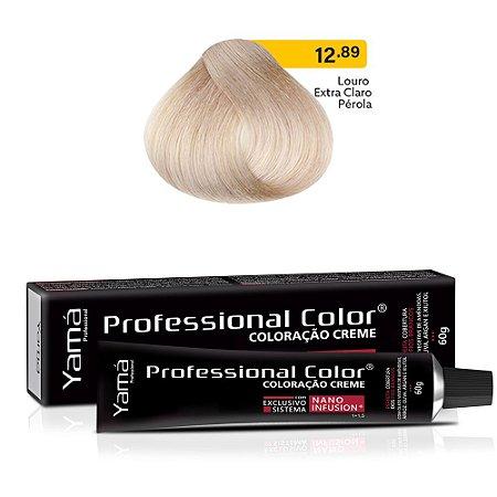 Coloração Yamá Creme Professional Color Nano Infusion 12.89 Louro Extra Claro Pérola 60g