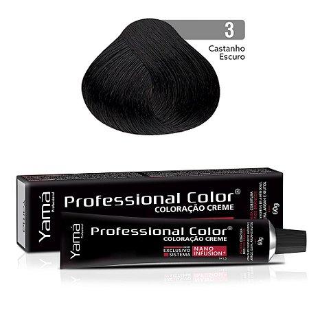 Coloração Yamá Creme Professional Color Nano Infusion 3.0 Castanho Escuro