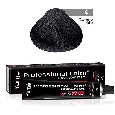 Coloração Yamá Creme Professional Color Nano Infusion 4.0 Castanho Médio