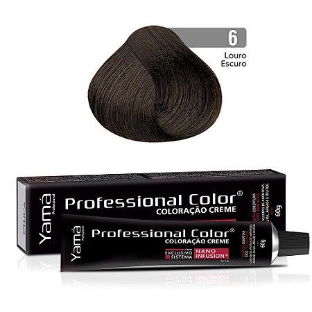 Coloração Yamá Creme Professional Color Nano Infusion 6.0 Louro Escuro