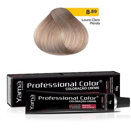 Coloração Yamá Creme Professional Color Nano Infusion 8.89 Louro Claro Pérola