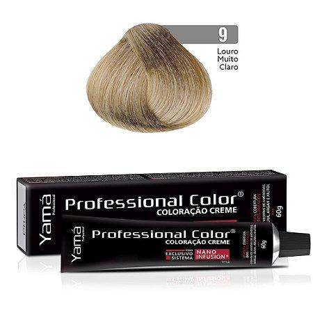 Coloração Yamá Creme Professional Color Nano Infusion 9.0 Louro Muito Claro