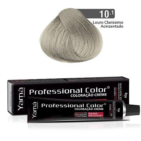 Coloração Yamá Creme Professional Color Nano Infusion 10.1 Louro Claríssimo Acinzentado