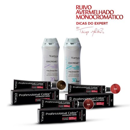 Kit Ruivo Avermelhado Monocromático By Thiago Martins