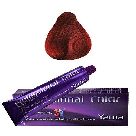 Coloração Yamá Professional Color N. 6.66 Louro Escuro Vermelho Intenso  60g