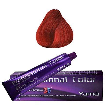 Coloração Professional Yamá Color n. 8.66 louro claro vermelho intenso(60g)