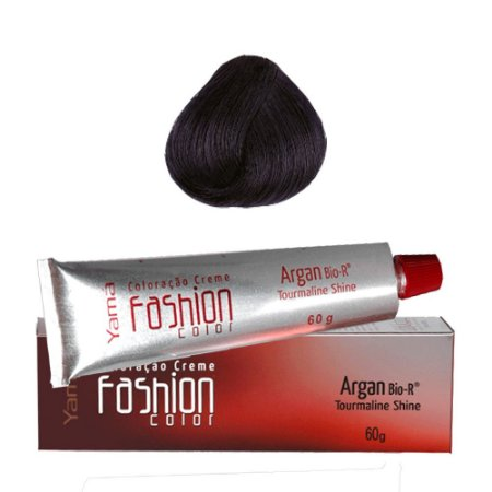 COLORAÇÃO YAMÁ FASHION COLOR ARGAN N. 1.1 PRETO AZULADO (60g)