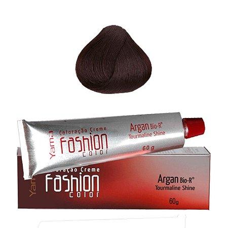 Coloração Yamá Fashion Color Argan N. 4.8 Castanho Médio Marrom Intenso  60g