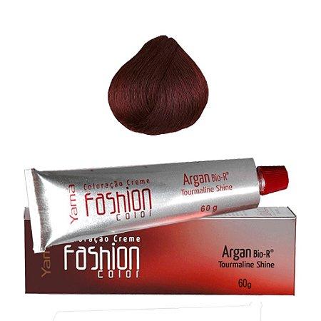 Coloração Yamá Fashion Color Argan N. 5.66 Castanho Claro Vermelho Intenso  60g