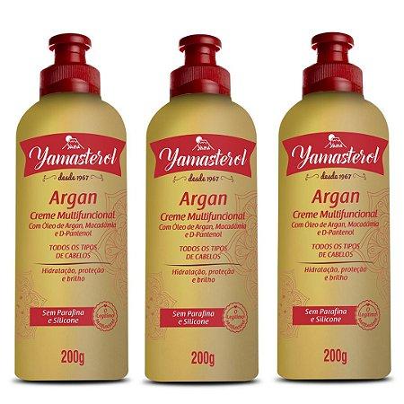 Creme Multifuncional Yamasterol Argan  200g (Kit C/03) - Perfumaria em Casa