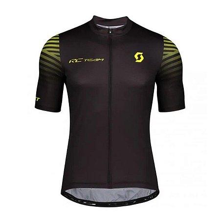 Camisa Ciclismo Scott RC Team 10 - Preto Amarelo