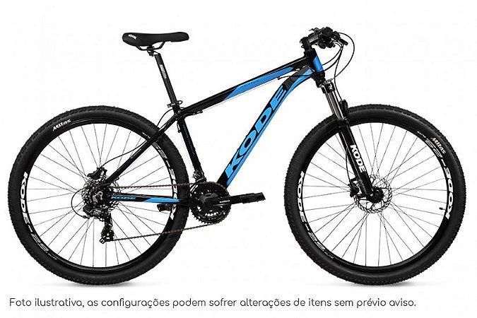 Bicicleta MTB Kode Active - Shimano Tourney 21v - Preta e Azul