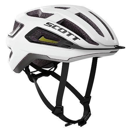 Capacete Ciclismo Scott ARX Plus (CE) 2021 - White / Black