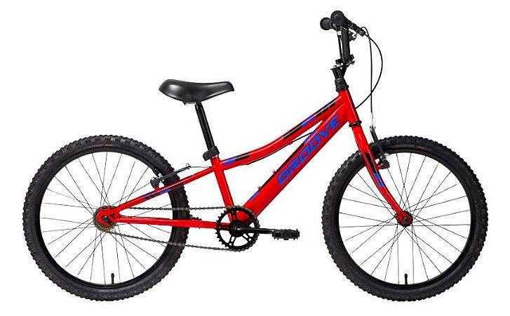 Bicicleta Infantil BMX Groove Ragga Aro 20 - Vermelha